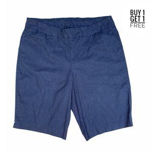 Kim Rogers Blue Denim Look Bermuda Shorts 16W